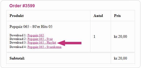 PQ575-Ordre4-Playlist