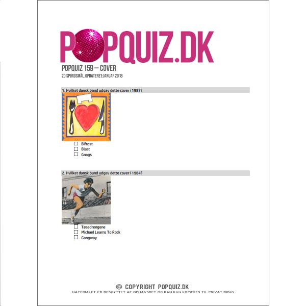 Demoark til quiz om pladecovers